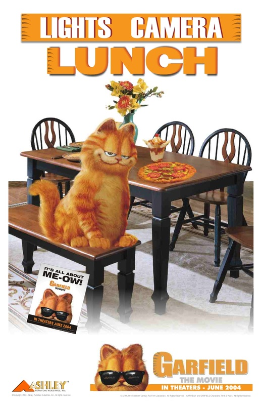 The Garfield Movie Retail Like A Fat Cat 1st National Partnership Promotion In The Furniture Industry Napier Marketing Group Llc